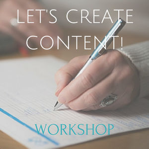 Let's create content